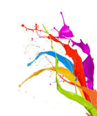 Colored splashes — Foto Stock