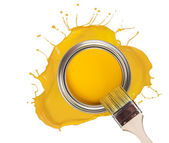 Yellow paint — Stock Photo