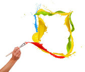 Colored painting — Stock Photo