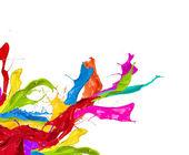 цветные брызги — Стоковое фото