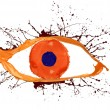 Splashes eye - Stock Photo