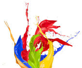 Colored splashes — 图库照片