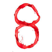 Red paint number — Stock Photo