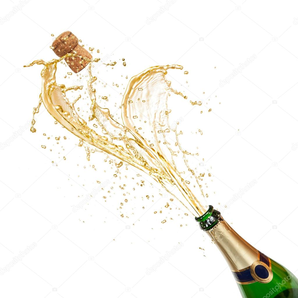  Celebration theme with splashing champagne   Stock Photo #14143325