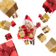 Santa girl — Stock Photo