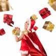 Royalty-Free Stock Photo: Santa girl