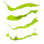 Green splashes — Stock Photo #14726001