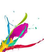 Colored splashes — Stock Photo