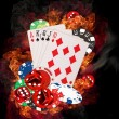 Poker background — Stock Photo #15659829