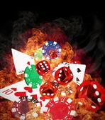 Poker pozadí — Stock fotografie