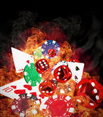 Sfondo di poker — Foto Stock