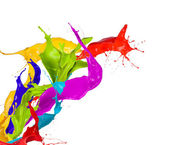 Colored splashes — Foto de Stock
