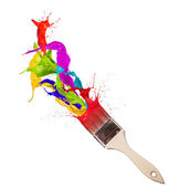 Colored brush — Stock Photo