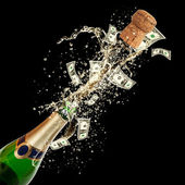 Money celebration — Stock Photo