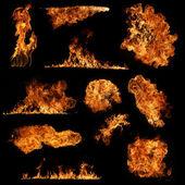 Eld lågor — Stockfoto