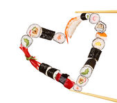 Sushi heart — Stock Photo