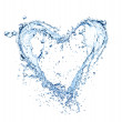 Water heart — Stock Photo #18393731