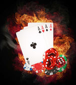 Poker koncept — Stockfoto