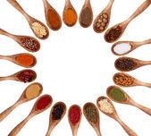 Coleção de especiarias — Foto Stock