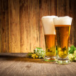 Glass of beers — Stock Photo #18640813