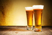 Glasses of beers — Stock Photo