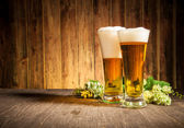 Glass of beers — Stock Photo