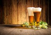 Glas öl — Stockfoto
