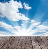 Cielo con tablones de madera — Foto de Stock