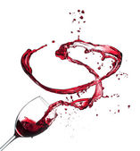Wine splashes — Stock Photo