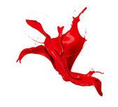 Platsch rot — Stockfoto