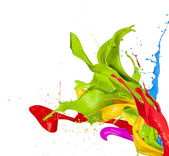 Colored splashes — Stock Photo