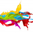 Colored splashes - Stock Photo