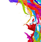 Kolorowe splash — Zdjęcie stockowe