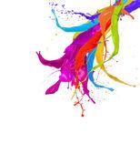 Färgade splash — Stockfoto