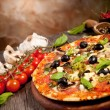 Delicious fresh pizza — Stock Photo