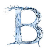 Water splashes letter — Stock Photo