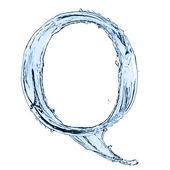 Letra de salpicaduras de agua — Foto de Stock