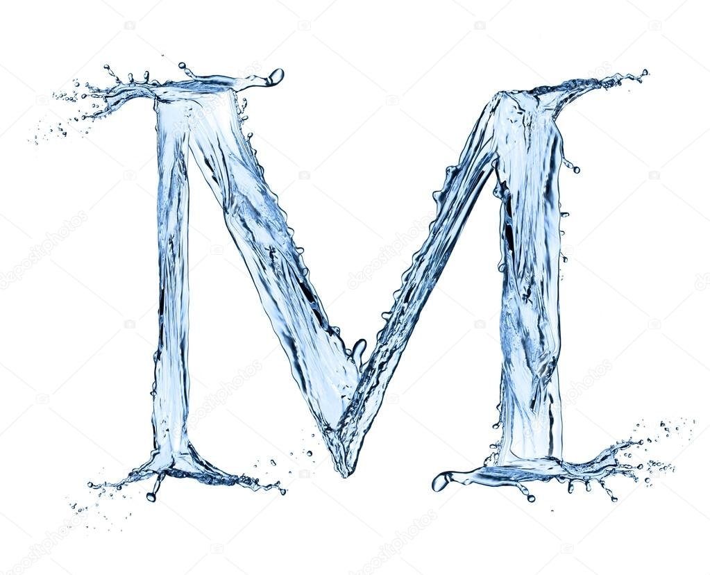M Letter In Water M Letter In Water - Vi...
