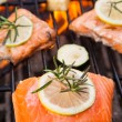 Grilled salmon — Stock Photo #28147853