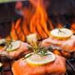 Grilled salmon — Stock Photo #28148317