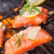 Grilled salmon — Stock Photo #28148441