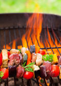 Grilled skewer — Stock Photo