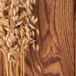 Oat on wood — Stock Photo