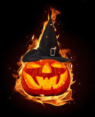 Burning pumpkin — Stock Photo