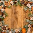 gingerbread on fir tree braches — Stock Photo