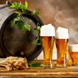 bière nature morte — Photo