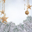 Stock Photo: Pin tree with decoration