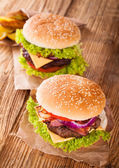Fresh hamburger — Stockfoto