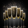 Glasses of champagne — Stock Photo