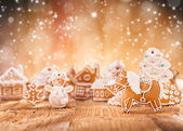 Christmas gingerbread village — Stock Photo